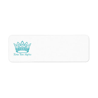 ZTA Crown with ZTA Return Address Label