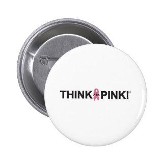 ZTA Think Pink! 6 Cm Round Badge