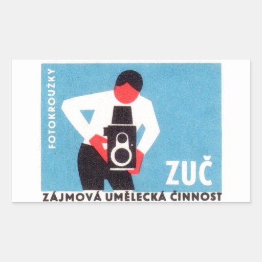 Zuc Camera Rectangular Stickers