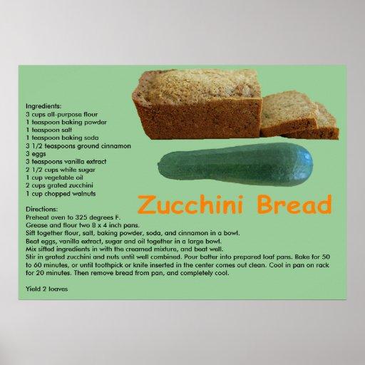 Zucchini Bread Recipe Print