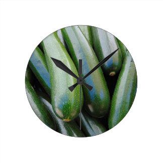 Zucchini Round Clock
