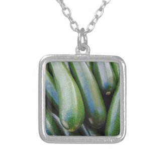 Zucchini Silver Plated Necklace