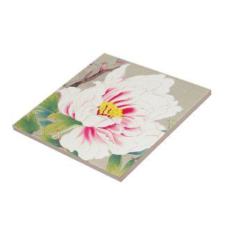 Zuigetsu Ikeda Pink Camellia japanese flower art Ceramic Tile