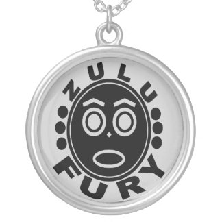 zulu fury silver plated necklace