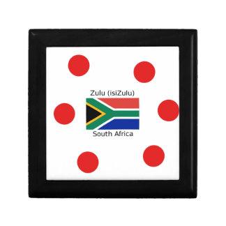 Zulu (isiZulu) Language And South Africa Flag Gift Box