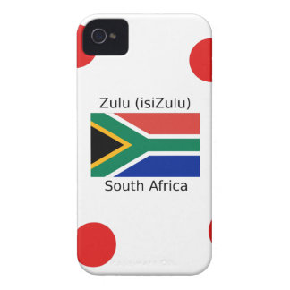 Zulu (isiZulu) Language And South Africa Flag iPhone 4 Cover
