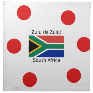 Zulu (isiZulu) Language And South Africa Flag Napkin