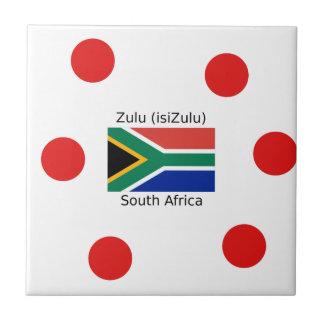 Zulu (isiZulu) Language And South Africa Flag Tile