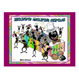Zulu Parade at Mardi Gras Postcard