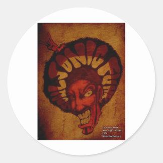 Zulu soulsonic funk classic round sticker