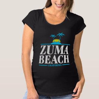Zuma Beach California Maternity T-Shirt