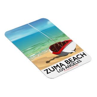 Zuma Beach LA Rail beach poster Magnet