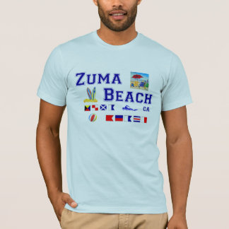 Zuma Beach - Maritime Flag Spelling T-Shirt