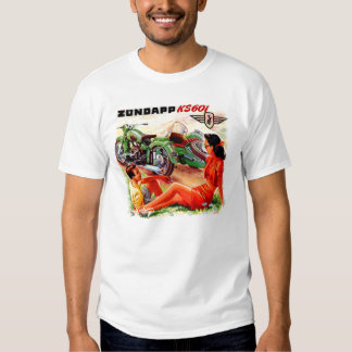 Zundapp Vintage Motorcycle Sidecar Ad Art T Shirts