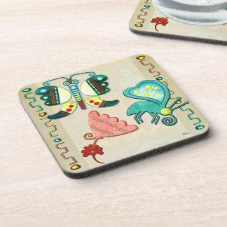Zuni Butterfly 2 Folk Art Coaster