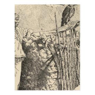 Zuni eagle cage postcard