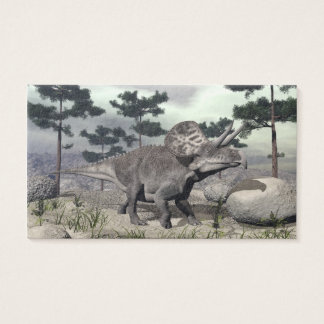 Zuniceratops dinosaur - 3D render Business Card