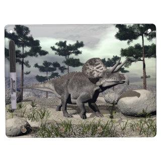 Zuniceratops dinosaur - 3D render Dry Erase Board With Key Ring Holder