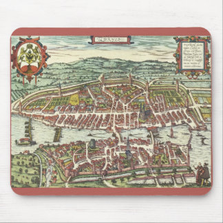 Zurich 16th century map mouse pad