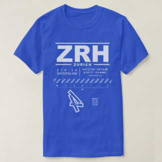 Zurich Airport ZRH Tee Shirt