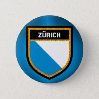 Zürich  Flag 6 Cm Round Badge