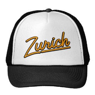 Zurich in orange mesh hat