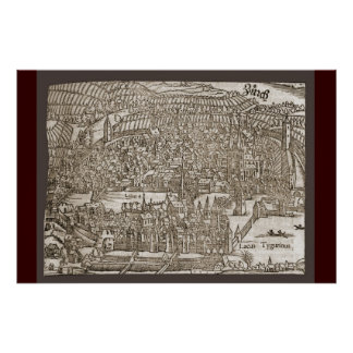 Zurich in the 16th century poster