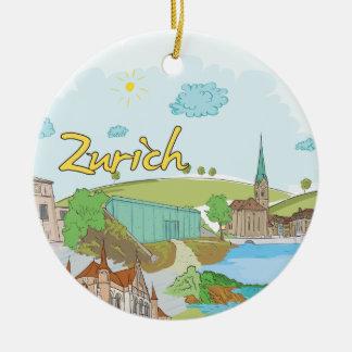 Zurich Round Ceramic Decoration