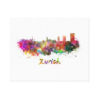 Zurich skyline in watercolor canvas print
