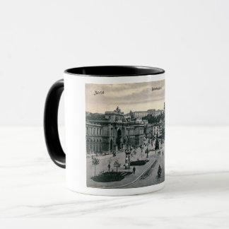 Zurich, Switzerland, Bahnhofplatz, Vintage Mug