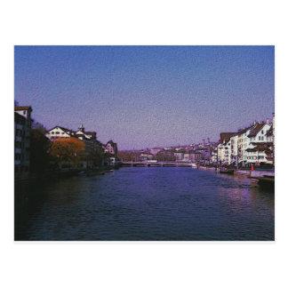 Zurich Switzerland Digital art. Postcard