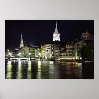 Zurich, Switzerland Limmat River - Print