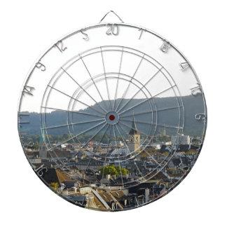 Zurich Switzerland Skyline Dartboard