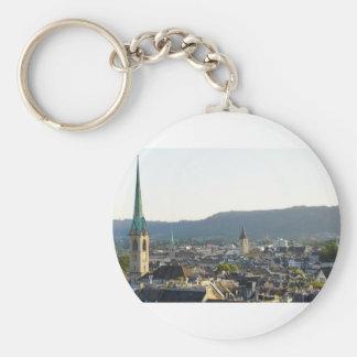 Zurich Switzerland Skyline Key Ring