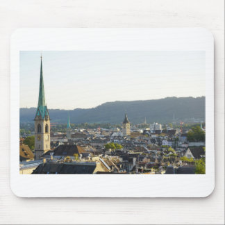 Zurich Switzerland Skyline Mouse Pad