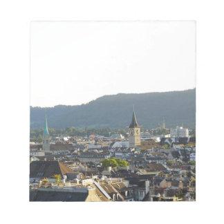 Zurich Switzerland Skyline Notepad