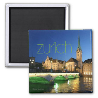 Zurich Switzerland Travel Souvenir Photo Magnet