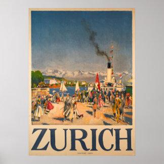 Zurich Switzerland Vintage Poster
