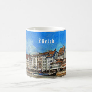 Zurich. View of the Limmat river embankment Coffee Mug