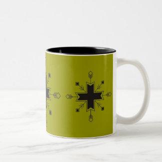 Zvaigznu kruze Two-Tone coffee mug