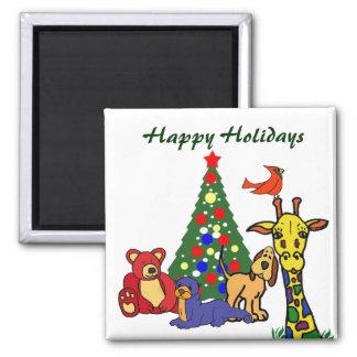 ZW- Happy Holidays Cartoon Magnet
