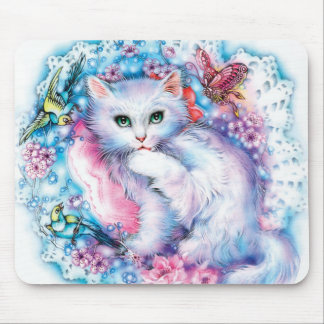 Zwhitecat Mouse Pad