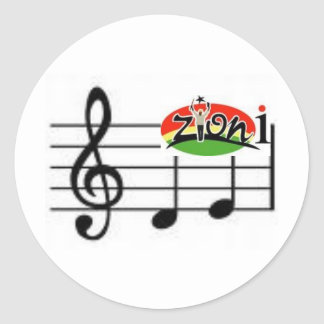 zyonimusic classic round sticker