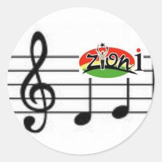 zyonimusic classic round sticker
