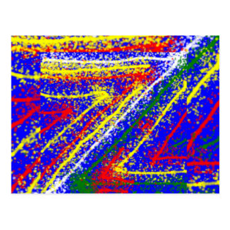 zzz  ZAZZLING Abstract Art : Royal Blue Streaks Postcard